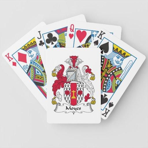 Escudo de la familia de Moyes Baraja Cartas De Poker