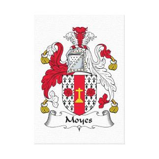 Escudo de la familia de Moyes Impresiones En Lona