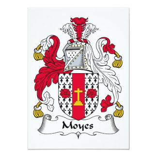 """Escudo de la familia de Moyes Invitación 5"""" X 7"""""""
