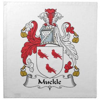 Escudo de la familia de Muckle Servilletas De Papel