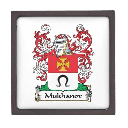 Escudo de la familia de Mukhanov Caja De Regalo De Calidad