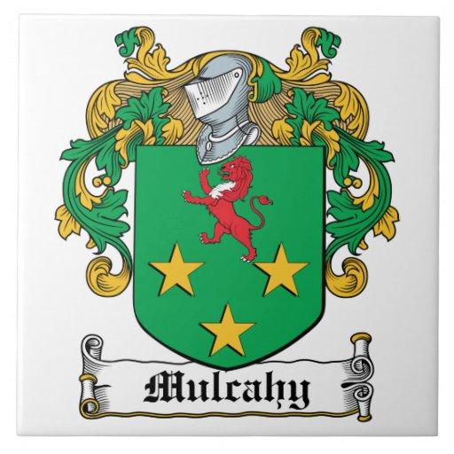 Escudo de la familia de Mulcahy Azulejo Cuadrado Grande