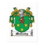 Escudo de la familia de Mulcahy Tarjeta Postal