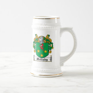 Escudo de la familia de Mulcahy Tazas De Café