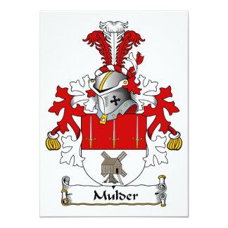 """Escudo de la familia de Mulder Invitación 4.5"""" X 6.25"""""""