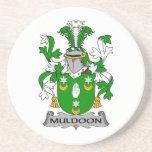 Escudo de la familia de Muldoon Posavaso Para Bebida