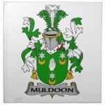 Escudo de la familia de Muldoon Servilletas