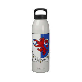 Escudo de la familia de Mulhain Botellas De Beber