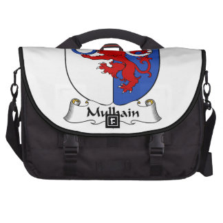 Escudo de la familia de Mulhain Bolsas Para Ordenador