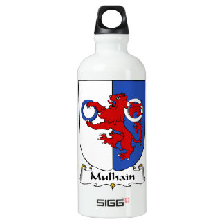 Escudo de la familia de Mulhain Botella De Agua