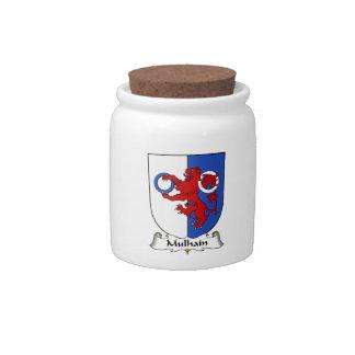Escudo de la familia de Mulhain Platos Para Caramelos