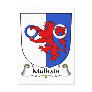Escudo de la familia de Mulhain Impresión De Lienzo