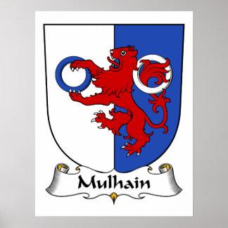 Escudo de la familia de Mulhain Impresiones