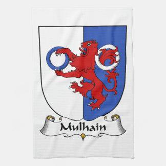 Escudo de la familia de Mulhain Toalla De Cocina