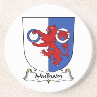 Escudo de la familia de Mulhain Posavasos Cerveza