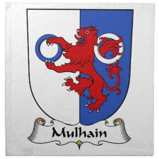 Escudo de la familia de Mulhain Servilleta