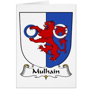 Escudo de la familia de Mulhain Tarjeta De Felicitación