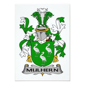 """Escudo de la familia de Mulhern Invitación 5"""" X 7"""""""