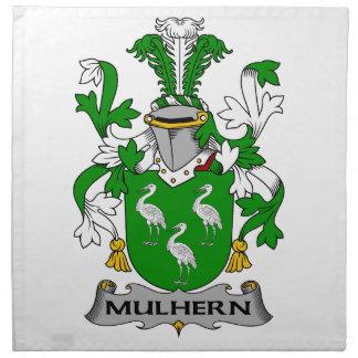 Escudo de la familia de Mulhern Servilletas Imprimidas