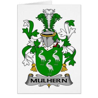 Escudo de la familia de Mulhern Tarjeta De Felicitación