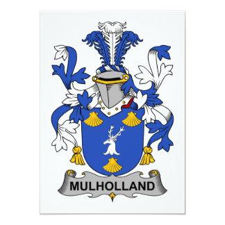 """Escudo de la familia de Mulholland Invitación 5"""" X 7"""""""