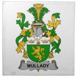 Escudo de la familia de Mullady Servilletas