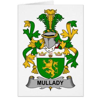 Escudo de la familia de Mullady Tarjeta De Felicitación