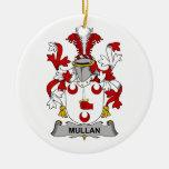 Escudo de la familia de Mullan Ornamento Para Reyes Magos