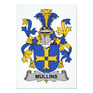 """Escudo de la familia de Mullins Invitación 5"""" X 7"""""""