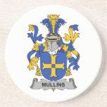 Escudo de la familia de Mullins Posavasos Para Bebidas