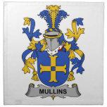Escudo de la familia de Mullins Servilletas De Papel