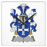 Escudo de la familia de Mullock Relojes De Pared
