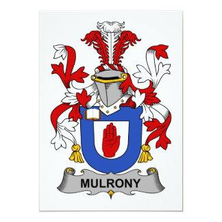 """Escudo de la familia de Mulrony Invitación 5"""" X 7"""""""