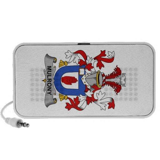 Escudo de la familia de Mulrony iPod Altavoz