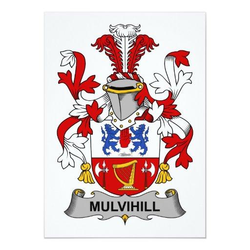 """Escudo de la familia de Mulvihill Invitación 5"""" X 7"""""""