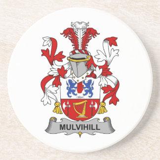 Escudo de la familia de Mulvihill Posavaso Para Bebida