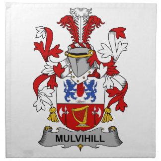 Escudo de la familia de Mulvihill Servilletas Imprimidas