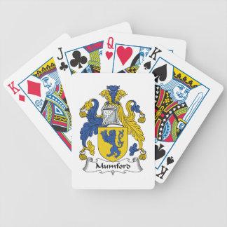 Escudo de la familia de Mumford Baraja Cartas De Poker