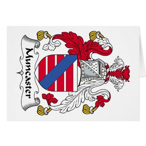 Escudo de la familia de Muncaster Tarjeta