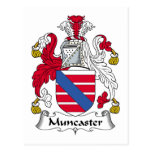 Escudo de la familia de Muncaster Tarjetas Postales