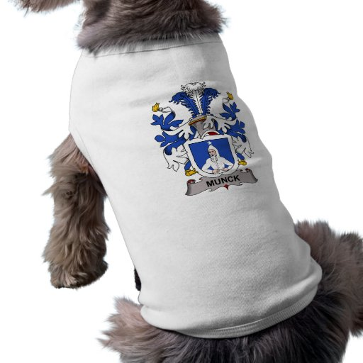 Escudo de la familia de Munck Playera Sin Mangas Para Perro