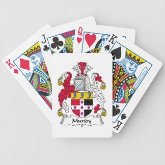 Escudo de la familia de Mundy Baraja Cartas De Poker