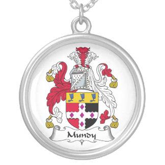 Escudo de la familia de Mundy Colgante Redondo