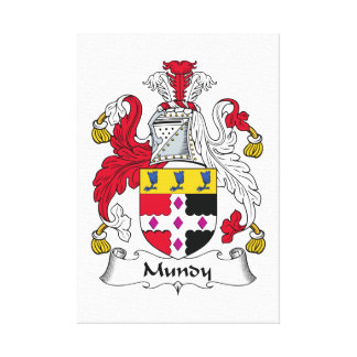 Escudo de la familia de Mundy Impresion De Lienzo