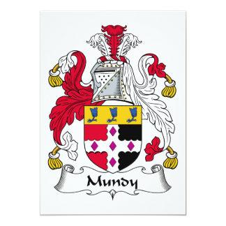 """Escudo de la familia de Mundy Invitación 5"""" X 7"""""""