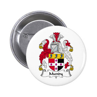 Escudo de la familia de Mundy Pin Redondo De 2 Pulgadas