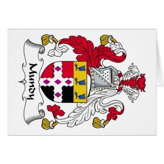Escudo de la familia de Mundy Tarjeta De Felicitación