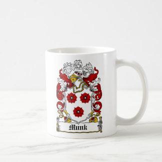 Escudo de la familia de Munk Taza De Café