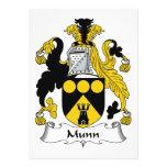 Escudo de la familia de Munn Anuncios Personalizados