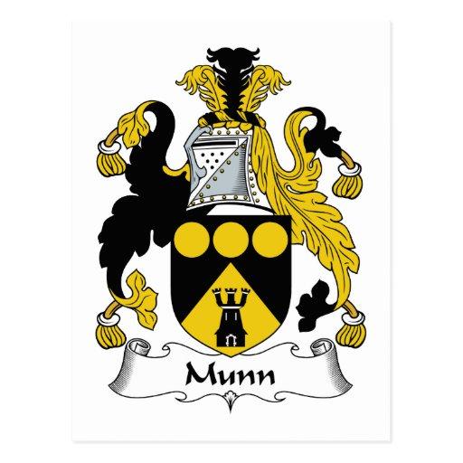 Escudo de la familia de Munn Tarjeta Postal